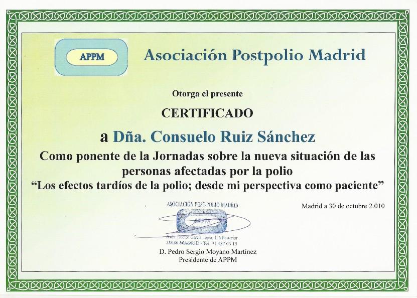 Certificado APPM